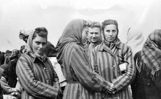 Women imprisoned at Ravensbruck in Germany.